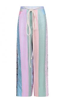 Широкие брюки прямого кроя с эластичным поясом Natasha Zinko