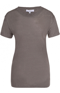 Льняная удлиненная футболка прямого кроя Iro