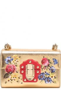 Сумка Lucia из металлизированной кожи с росписью Dolce & Gabbana