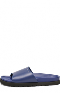 Кожаные шлепанцы на резиновой подошве Giuseppe Zanotti Design