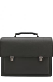 Кожаный портфель с тиснением Saint Laurent