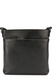 Кожаная сумка-планшет с внешним карманом на молнии Ermenegildo Zegna