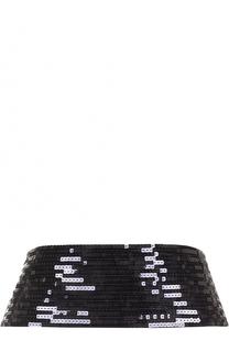 Ремень из шелка с пайетками Saint Laurent
