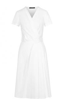 Хлопковое платье с запахом и коротким рукавом Windsor
