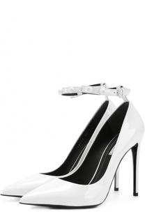 Лаковые туфли с ремешком на щиколотке Balenciaga
