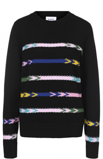 Кашемировый пуловер прямого кроя с контрастной отделкой Barrie