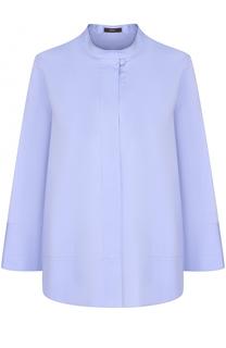 Блуза свободного кроя с воротником-стойкой и укороченным рукавом Windsor