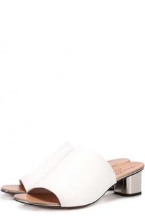 Кожаные сабо на устойчивом каблуке ROBERT CLERGERIE