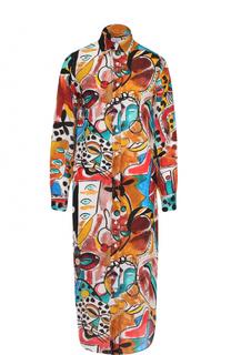 Платье-рубашка прямого кроя с ярким принтом Stella Jean