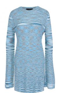 Удлиненный пуловер с круглым вырезом и высокими разрезами Ellery