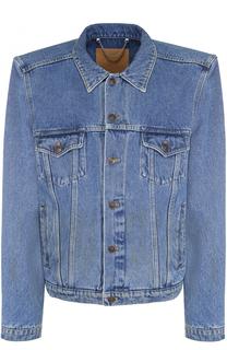 Джинсовая куртка прямого кроя с широкими плечами Balenciaga