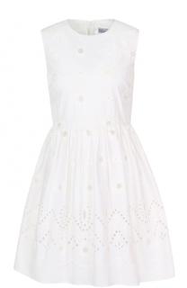 Кружевное мини-платье без рукавов REDVALENTINO