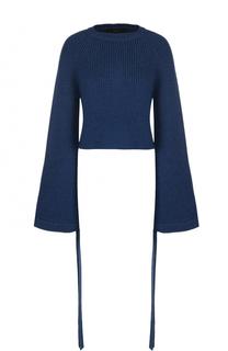 Пуловер прямого кроя с удлиненными расклешенными рукавами Ellery