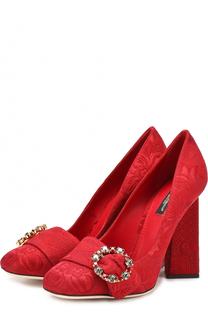 Туфли Jackie с вышивкой на геометричном каблуке Dolce & Gabbana