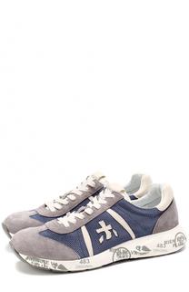 Комбинированные кроссовки Louis на шнуровке Premiata