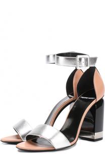 Кожаные босоножки на фигурном каблуке Pierre Hardy