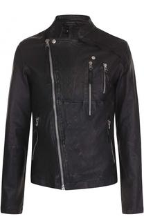 Кожаная куртка с косой молнией Barbara I Gongini