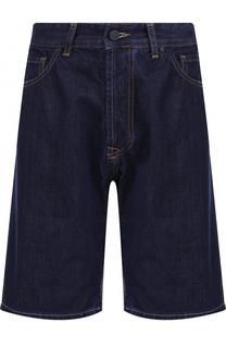 Джинсовые шорты свободного кроя с контрастной прострочкой Frankie Morello