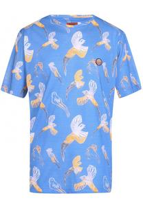 Хлопковая футболка свободного кроя с принтом Missoni
