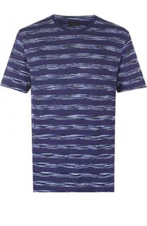 Льняная футболка в контрастную полоску Z Zegna