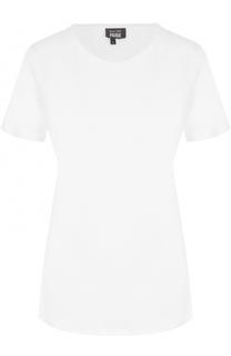 Льняная футболка прямого кроя с круглым вырезом Paige