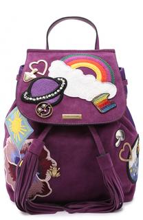Замшевый рюкзак Zip Pack с нашивками Marc Jacobs