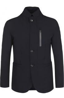 Приталенная куртка на молнии с воротником-стойкой Armani Collezioni