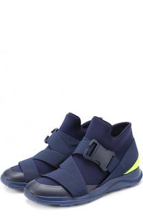 Текстильные кроссовки с отделкой из натуральной кожи Christopher Kane
