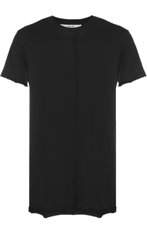 Удлиненная хлопковая футболка свободного кроя Damir Doma
