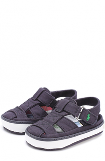 Текстильные сандалии с застежкой велькро Polo Ralph Lauren