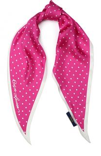 Шелковый шарф с принтом Polo Ralph Lauren