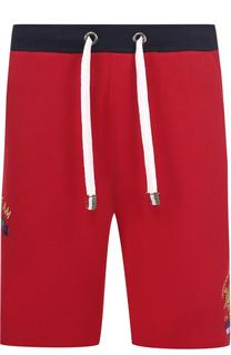 Хлопковые шорты свободного кроя La Martina