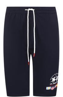 Хлопковые шорты свободного кроя с заниженной линией шага La Martina