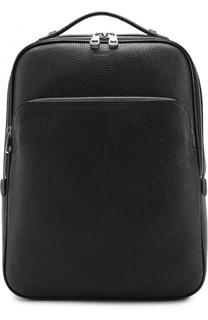 Кожаный рюкзак с внешним карманом на молнии Bally