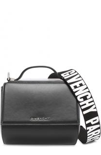 Сумка Pandora Box Mini с текстильным ремнем Givenchy