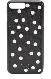 Кожаный чехол для iPhone 7 Plus с принтом Dolce & Gabbana