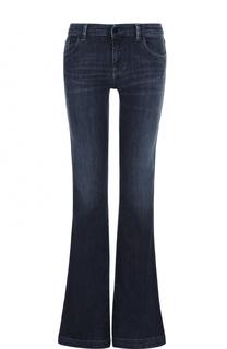 Расклешенные джинсы с декоративными потертостями Armani Jeans