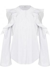 Блуза прямого кроя с оборками и открытыми плечами Dorothee Schumacher