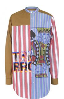 Удлиненная хлопковая рубашка свободного кроя Stella McCartney
