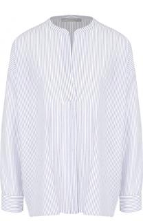 Хлопковая блуза свободного кроя в контрастную полоску Vince