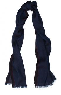 Двусторонний шарф из смеси льна и кашемира с шелком Ermenegildo Zegna