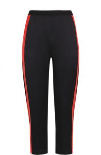 Укороченные брюки с эластичным поясом и контрастными лампасами Ilaria Nistri
