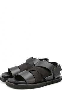 Кожаные сандалии с эластичными лентами Cinzia Araia