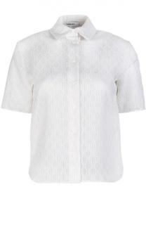 Блуза с коротким рукавом и тканым принтом Carven