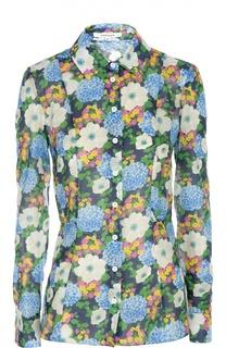Приталенная блуза с цветочным принтом Carven