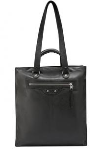 Кожаная сумка-тоут North-South с плечевым ремнем Balenciaga