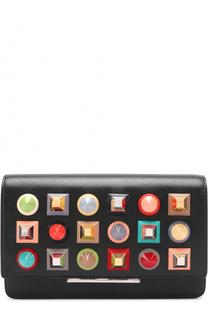 Клатч с декоративной отделкой Fendi