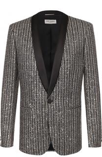 Вечерний пиджак с шалевыми лацканами Saint Laurent