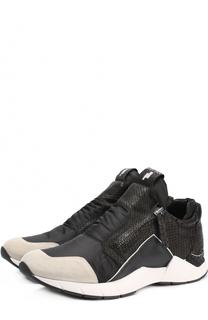 Комбинированные кроссовки с боковыми молниями Cinzia Araia