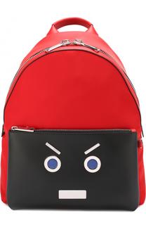 Комбинированный рюкзак с аппликацией Fendi